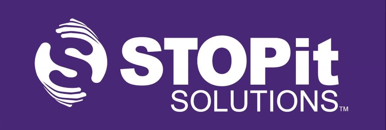 Clear Image of the word stopit solutions purple text and company logo